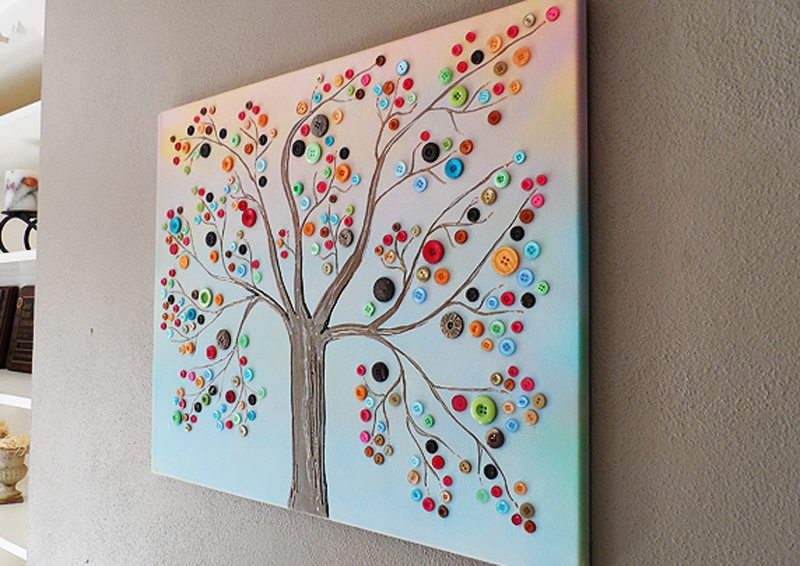 Button Tree Wall Art