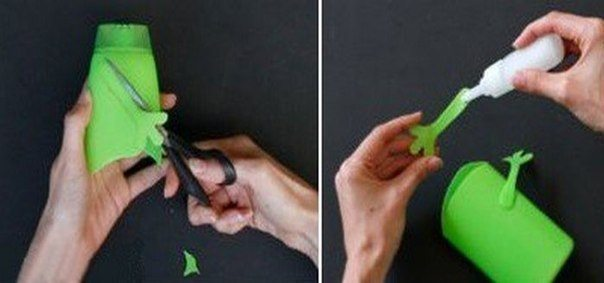 DIY Shampoo Bottle Pencil Holder