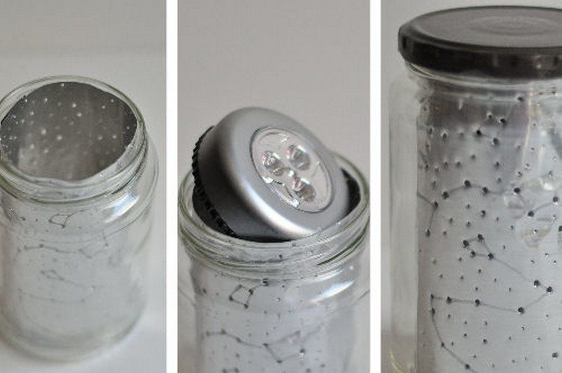 DIY Constellation Jar Lamp