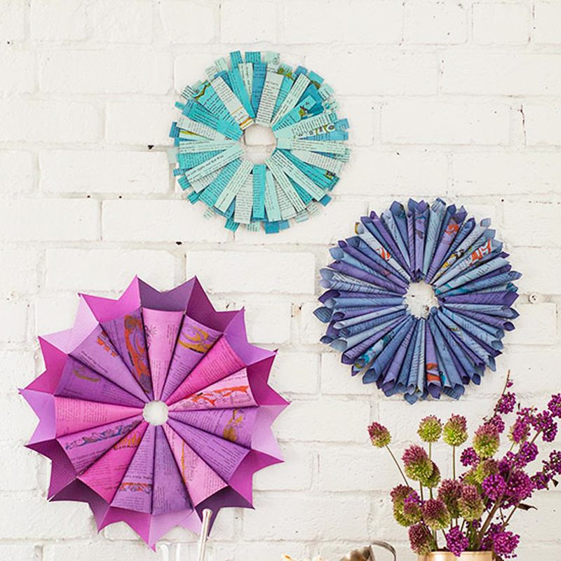 Dyed Paper Decor