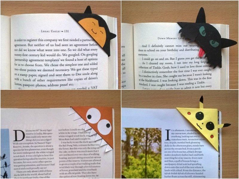 Cute Customized Corner Bookmarks