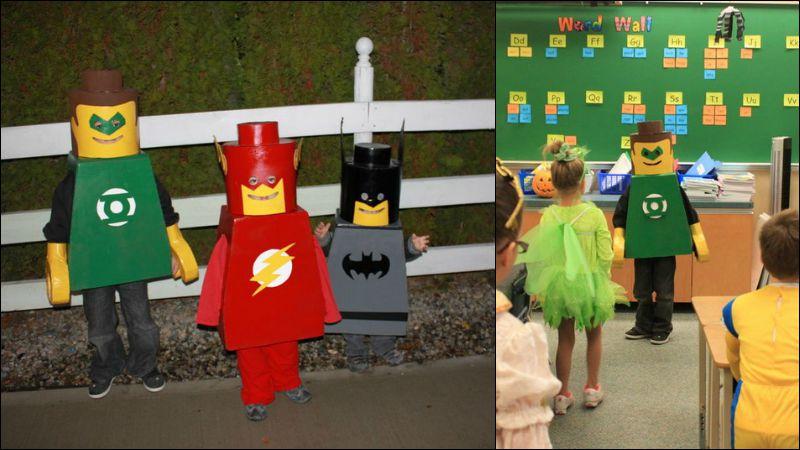 Lego Man Costume Finished Product
