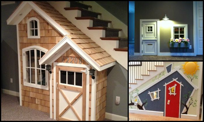 Indoor Playhouse Under Stairs