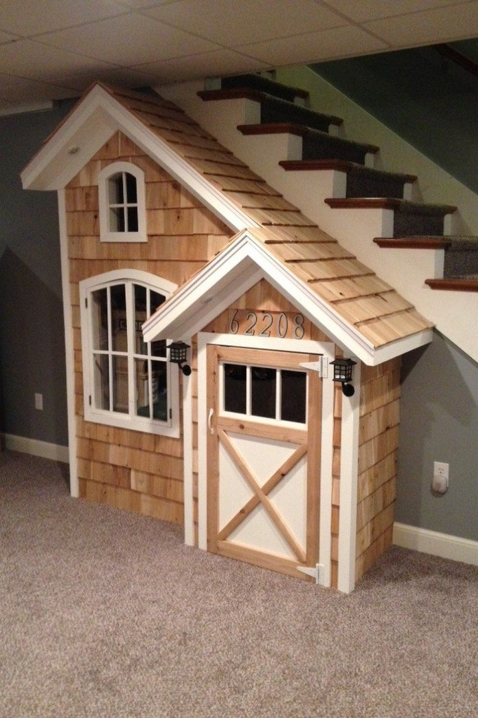 Under The Stairs Indoor Playhouse | Little fingers