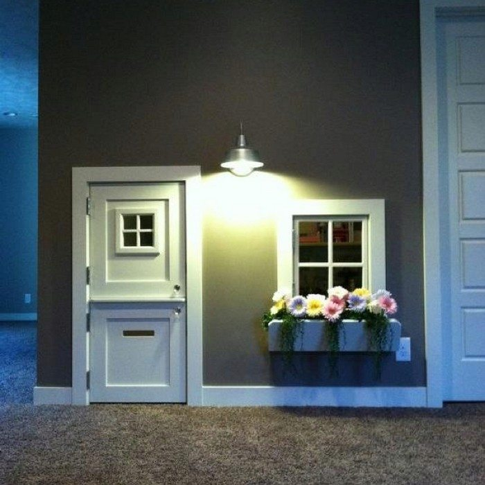 Tiny Home Designs: Under The Stairs Indoor Playhouse