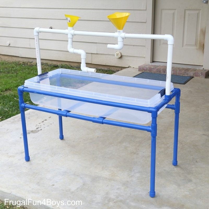 Pvc pipe projects your kids will love little fingers for Diy sand and water table pvc